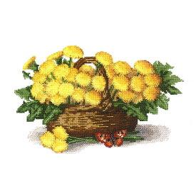 刺繍キット Charivna BT-114 Basket of dandelions タンポポのバスケット 【メール便可】 クロスステッチ キット