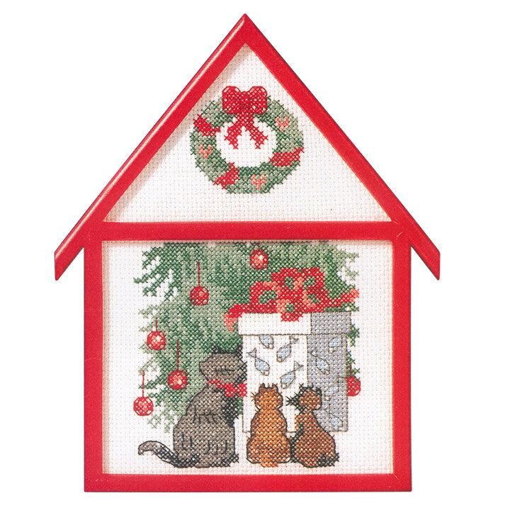 刺繍 輸入キット O.O.E. Christmas gifts for the Cats 【メール便可】
