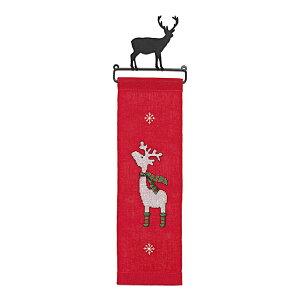 輸入刺繍 RICO Happy Christmas トナカイ ベルブル付き|ドイツ製 クリスマス プレゼント ベルプル 78839 刺繍キット