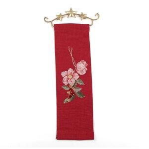 輸入刺繍 RICO Christmas クリスマスローズ ベルブル付|ドイツ製 クリスマス プレゼント ベルプル 78665 刺繍キット