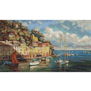 刺繍キット PANNA パンナ MT-1383 Italian Azure イタリアの紺碧の海 | 風景 海 クロスステッチキット