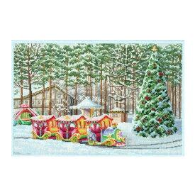 刺繍 輸入キット ゴールデンフリース New Year Express ニューイヤーエクスプレス|SO-016 雪 クリスマス 汽車 ツリー クリスマス クロスステッチキット