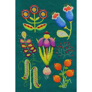 DMC クロスステッチキット フラワー&ボタニカル GARDEN 庭園|BK1933 カラフルな植物 クロスステッチキット ポップ
