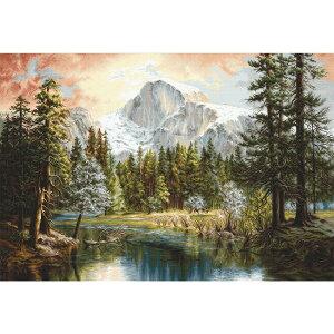 刺繍キット 輸入 ルーカス Nature's Wonderland ネイチャーワンダーランド B604 | Luca-S キット クロスステッチキット 雪山 自然 景色