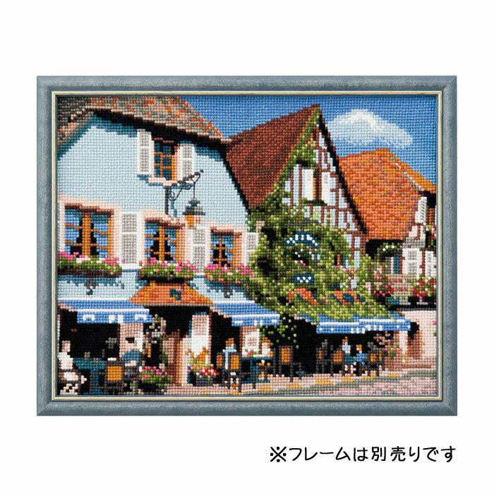 【PCエントリーでP10倍 2/1(9:59)まで】【送料無料】 フランスの風景(クロスステッチ) アルザス地方のカフェ NO_711 (ネコポス不可・ゆうパケット不可)