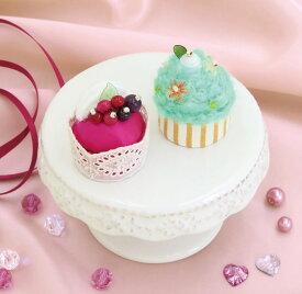 スウィーツマグネット ベリーのムースケーキとミントのカップケーキ PA-727 (メール便不可) 入園入学 ステイホーム おうち時間 手芸男子