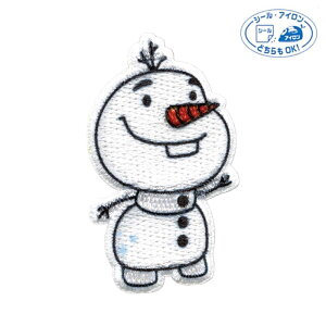 「アナと雪の女王2(オラフ)」ワッペン シールアイロン両用タイプ MY4501-MY476 (メール便可) 入園入学準備 ステイホーム おうち時間 手芸男子