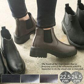 10%OFFクーポン配布中 サイドゴア ブーツ レディース ラウンドトゥ ブーティー ショートブーツ ラグソール 3.5cmヒール 痛くない 歩きやすい 大きいサイズ 小さいサイズ カジュアル 防滑 スポーティ 防寒 福袋ブーツ対象