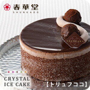ホワイトデー・入学祝・卒業祝【春華堂】アイスケーキ/ 濃厚なチョコレートをリッチに使った大人のアイスケーキ/4号 誕生日 バースデー アイスクリームケーキ/チョコ チョコレート/ トリ