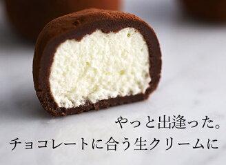 やっとであった。チョコに合う生クリームに。