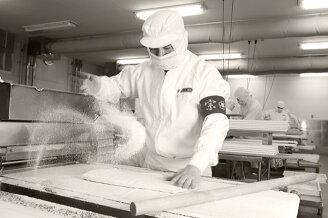 職人による手作りのパイ