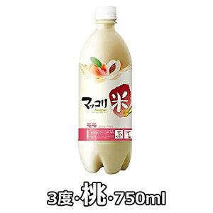 麹醇堂 果物 マッコリ 桃 750ml 3度