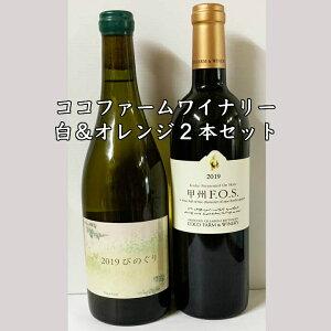 ココファームワイナリー白&オレンジ2本セットワイン 自然派ワイン ナチュラルワイン 国産ワイン 日本ワイン セットワイン ワインセット ナチュラルワイン