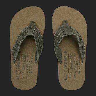 艾伯克龙比和惠誉男装 Beach Sandals SOFT FABRIC-LINED 翻转触发器橄榄 (S、 M、 L、 XL) (购物狂马拉松,最大点的 10 倍!,即时交货,新,超过 800 日元)