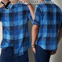 【掘り出し物市】アメリカンイーグル メンズ フランネルシャツ AE Plaid Button Down Shirt ブルー (2153-8845) S M L…