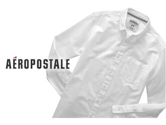 There is the size that is big to a men's cool gift more than aeroPOS tail men casual shirt LONG SLEEVE UNIFORM SHIRT bleach S M L XL 3,980 yen; the spring clothing new work is the arrival present lapping for free, too!