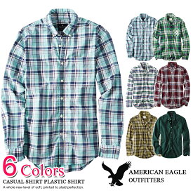 ff35564b4007 アメリカンイーグル メンズ 長袖 カジュアル シャツ プラッドシャツ 6色 (0153-9988)