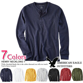 ■The winter clothing new work is the arrival men's cool giftwrapping for free more than 10,800 yen American eagle men henley neck Ron T seven colors (2519-9559) S M L XL XXL Rakuten Eagles Thanksgiving Day point up to 24 times one after another in autumn