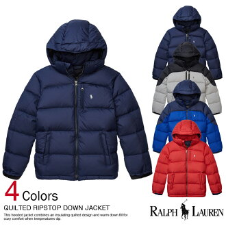 !There is the size that is big to a men's cool gift more than polo Ralph Lauren Boys down jacket Quilted Ripstop Down Jacket four colors POLO RALPH LAUREN(444617) 10,800 yen; the new work is ... during the arrival lapping for free one after another in fa