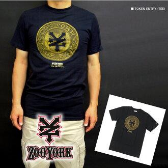 动物园约克人短袖T恤TOKEN ENTRY(TEE)黑色(ZT-TOKEN)S M L XL超过1万零800日元有也对男子的帅的礼物大的尺寸,夏季商品新作品也父亲节包免费是进货!