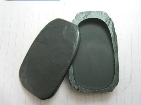 硯 / 硯石 共蓋天然型 五三寸サイズ - 雄勝 - ☆ 純国産硯 ☆