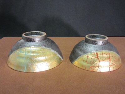 【九谷焼】組飯碗(ご飯茶碗,夫婦茶碗,ペア茶碗,お茶碗)金箔彩