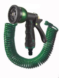 【smtb-k】【w4】<送料無料>高品質・高機能コイルホースセット(15m)巻き取り不要で洗車に水やりに最適!