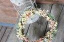 【 送料無料 】アジサイ・秋色ミナヅキのリース/ドライフラワー/お祝い・お誕生日・お礼・ホワイトデー・プレゼント・母の日・結婚祝い・新築祝い