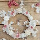 手作りキット◆ソーラーローズとあじさい(アジサイ)のふわふわリース/ドライフラワー/お祝い・お誕生日・お礼・ホワイトデー・プレゼント・母の日・結婚祝い・新築祝い