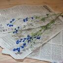 デルフィニューム ブルー (濃青) / ドライフラワー 花材 リース 手作り ナチュラル 青 材料 素材 インテリア ディスプレイ お花