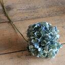 アジサイ枝付 S ブルー ・ グリーン 系 / 紫陽花 あじさい / ドライフラワー 花材 ナチュラル インテリア 材料 素材 …