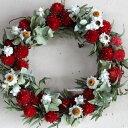【送料無料】ミニリースレッド◆ドライフラワー/お祝い・お誕生日・お礼・ホワイトデー・プレゼント・母の日・結婚祝い・新築祝い