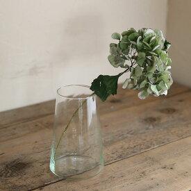 Horn Please リューズガラス ブロードラインフラワーベース セキュア 【L】◆ レトロ アンティーク調 ナチュラル インテリア ディスプレイ リサイクルガラス ボタニカル