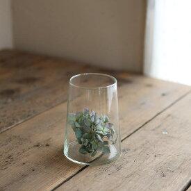 Horn Please リューズガラス ブロードラインフラワーベース セキュア 【S】◆ レトロ アンティーク調 ナチュラル インテリア ディスプレイ リサイクルガラス ボタニカル