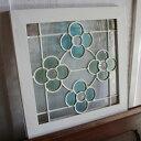 ステンドグラス リュンヌ 白 / インテリア ナチュラル フレンチ アンティーク調 窓 ステンドグラス フレーム ディスプレイ