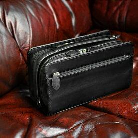 セカンドバッグ メンズ ダブルファスナー ブランド【送料無料】MACLAREN.co-マクラーレン- ダブルファスナー式セカンドバッグ ボックスタイプ フェイクレザー AN-2133 BOX型 かっこいい 鞄 バッグ BAG 冠婚葬祭