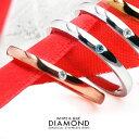 指輪 リング レディース 指輪 細身 ペアリング ダイヤ ダイヤモンド入り★ブルーダイヤサージカルステンレスリング プ…