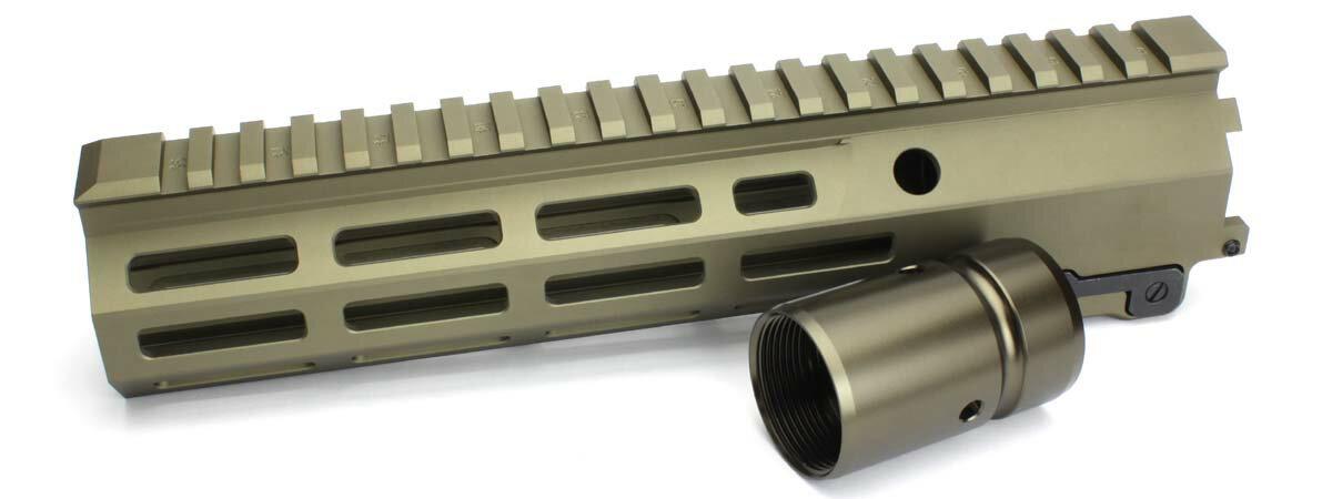 C&C TACTICAL 各社リアルピッチM4シリーズ対応 Geissele SMR MK16 M-LOK 9.3inch レイルハンドガード DDC