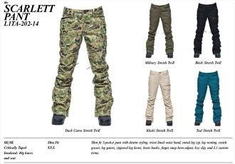 L1TA(LITA)SCARLETT PANT 2014/15 L1TA(LITA)OUTERWEAR SNOWBOARD 2014/15丽塔外衣单板滑雪斯卡利特裤子国内正规的物品!