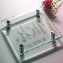 スタイリッシュガラス表札