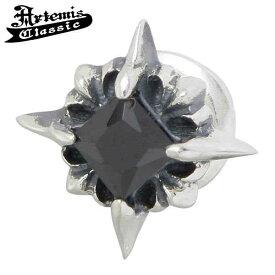 Artemis Classic【アルテミスクラシック】 ピアス レディース シルバー RAY BK スタッド ブラックキュービック 925 Silver 1個売り 片耳用 925 スターリングシルバー ACE0087