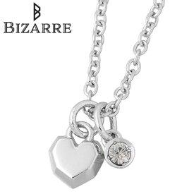 ビザール Bizarre ネックレス レディース クリスタル クール シルバー ジュエリー ハート 誕生石 925 スターリングシルバー BNJ004CR