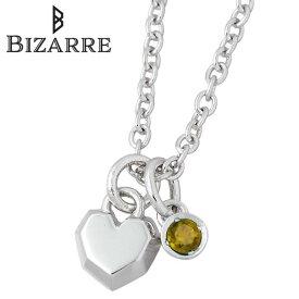 ビザール Bizarre ネックレス レディース シトリン クール シルバー ジュエリー ハート 誕生石 925 スターリングシルバー BNJ004CT
