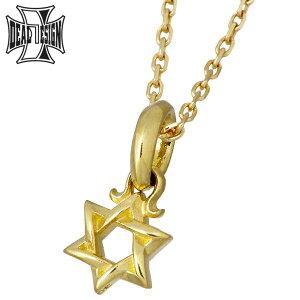 ディールデザイン DEAL DESIGN ゴールド ネックレス シックスター チャーム K18 K10チェーン メンズ 393109K18-K10