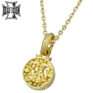 ディールデザイン DEAL DESIGN ゴールド ネックレス ブラインド スマイル チャーム K18 K10チェーン メンズ 393110K18-K10