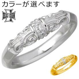DEAL DESIGN【ディールデザイン】ゴールド リング 指輪 マリッジ ゲート K18 ダイヤモンド メンズ レディース 7〜23号 393275K18
