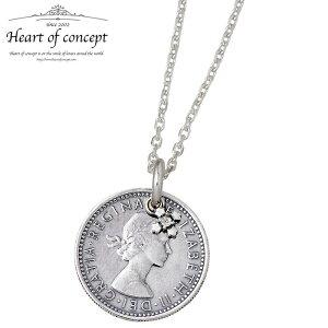ハートオブコンセプト HEART OF CONCEPT ネックレス レディース シックスペンス コイン シルバー ジュエリー メンズ 誕生石 ダイヤモンド HCP-362DA