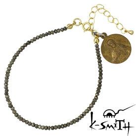 【ケースミス】K-SMITH ブレスレット メンズ シルバー ジュエリー パイライト 925 スターリングシルバー KI-P-B-L