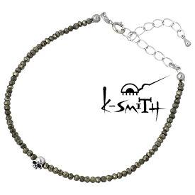 ケースミス K-SMITH ブレスレット メンズ シルバー ジュエリー パイライト スカル 925 スターリングシルバー KI-PSK-B-M