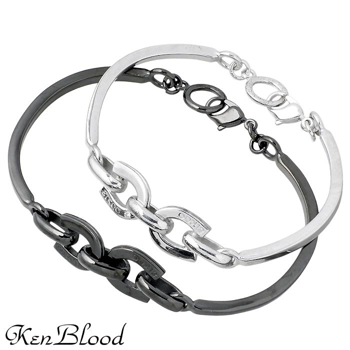 KEN BLOOD【ケンブラッド】シルバー ペア ブレスレット ダイヤモンド ホースシュー 馬蹄 KP-279-P